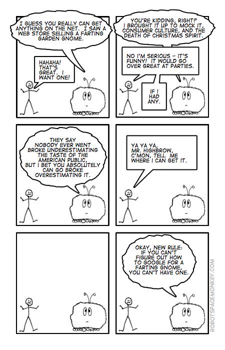 robot space comic 18 - gnome