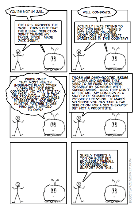 robot space comic - deductable injustices