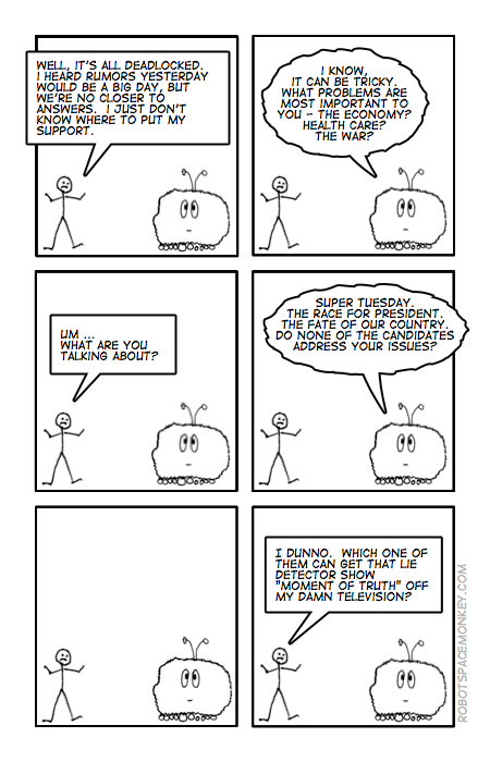 robot space comic - issues voter