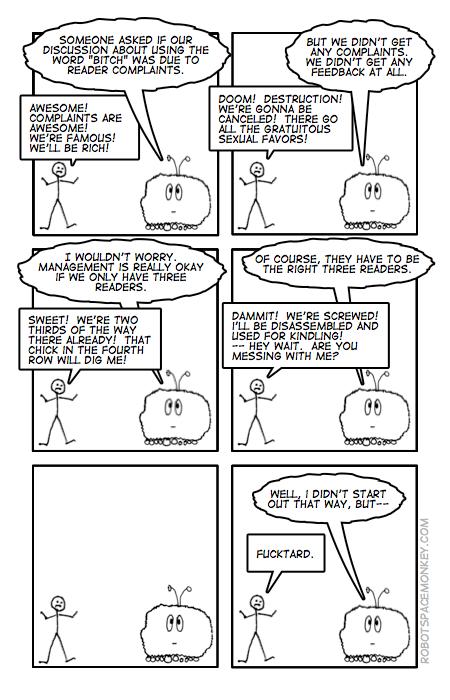 robot space comic - i had to