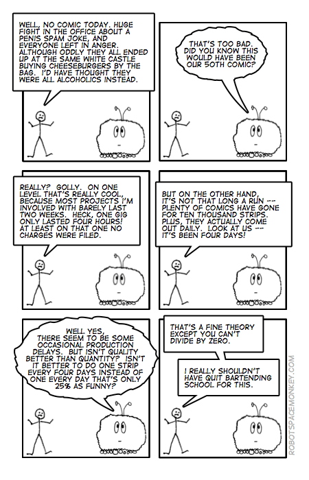 robot space comic - unnifty fifty