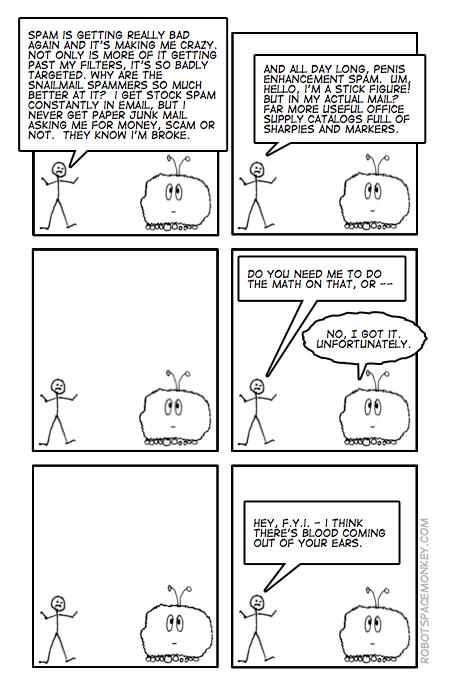 robot space comic - target margeting