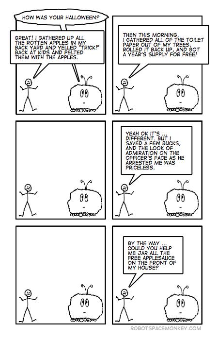 robot space comic - tp tmi