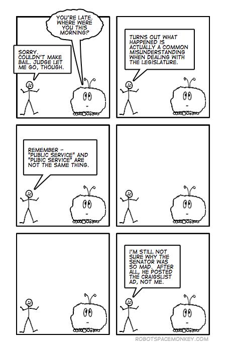 robot space comic - larry craiglist
