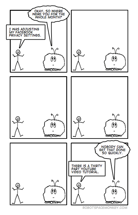 robot space comic - there is no going back, is there